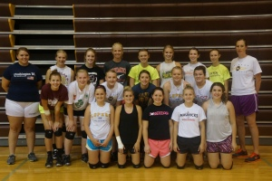 LDNE volleyball team.From back row left to right is Coach Bruhn, Kelly Wakeley, Brianne Haskell, Hannah Christiansen, Maddie Ronnfeldt, Vanessa Peterson, Kayci Kramer, Natalia Castle, Coach Cronin.  Middle row from left to right is Mickayla Petersen, Abby Peterson, Lexie Bacon, Darcey Simonsen, Tessie Collins, Libby Henneman.  Front row left to right is Kelsey Payton, Shyanne French, Victoria Maslonka, Sarah Alford, and Haley Bacon. Photo Credit, Denise Gilliland/Kat Country Hub