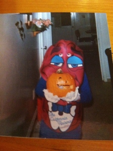 Justin as the California Raisin. Halloween 1988. Photo Credit/Denise Gilliland, Editor and Chief, Kat Country Hub.