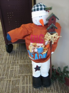 Summer Reading Program Snowman. Photo Credit/Kay Steinmeyer.