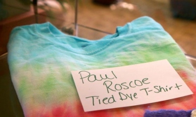 This tied by t-shirt is a 4-H project by Paul Roscoe on display at the Lyons Public Library. Photo Credit/Denise Gilliland, Editor and Chief, Kat Country Hub.