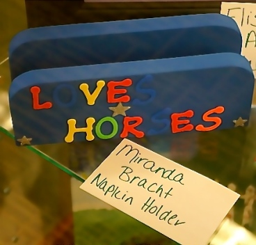 Napkin holder made by Miranda Bracht for 4-H week project. Photo Credit/Denise Gilliland, Editor and Chief, Kat Country Hub.