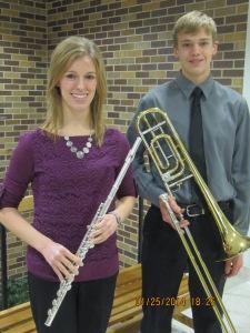 Heidi Miller and Brent Miller attended WSC Honor Band. Photo Courtesy of LDNE.