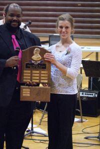 Heidi Miller earned the John Phillp Sousa Award.  It is the top Music Band Award. Photo Courtesy of LDNE.