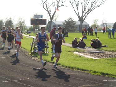 Joey O'Connor in 3200 run. Photo Credit/Clare Wiltse Sports Contributor.