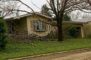 The damage in Uehling, NE.Photo Credit for all photos, Denise Gilliland, Editor and Chief, Kat Country Hub.