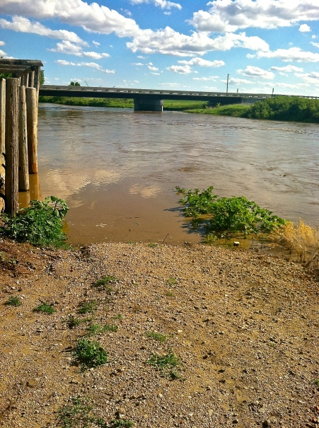 The water is now where people could walk down and fish at Logan Creek in Oakland, NE. Photo Credit/Denise Gilliland, Editor and Chief, Kat Country Hub.
