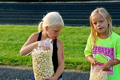 What a treat! A big bag of popcorn! Photo Credit/Denise Gilliland, Editor and Chief, Kat Country Hub.