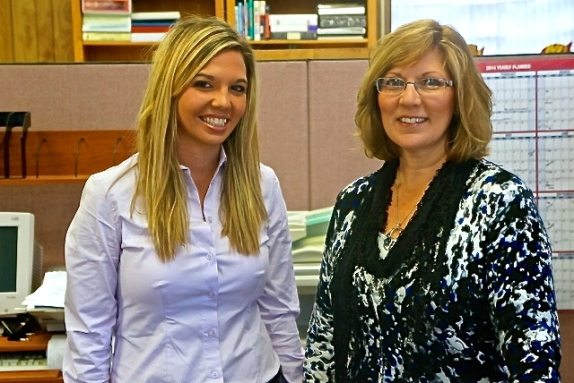 The City of Oakland's new city clerk is Katie Brehmer, left. Rosa Schmidt, Head Library Director, also works part-time in the city office. Stop in and welcome Katie aboard and tell the ladies hi! Photo Credit/Denise Gilliland, Editor and Chief, Kat Country Hub.