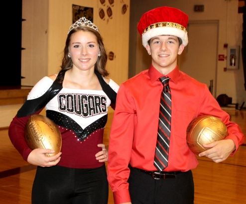 Darcey Simonsen and Chevy Hennemen are 2014 Homecoming Queen and King at Lyons-Decatur Northeast. Photo Credit/Pat Sharp.