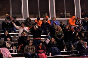 The OC Knights have an exuberant crowd cheering for them. Photo Credit/Cheri Droescher.