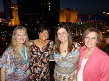 Tami Hovendick, second from right, and other consultants at and Arbonne convention in Las Vegas. Photo courtesy of Tami Hovendick.