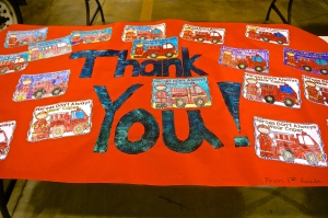 LDNE elementary students made posters recognizing fire prevention week and checking smoke alarms. All photos credit of Denise Gilliland, Editor and Chief, Kat Country Hub.
