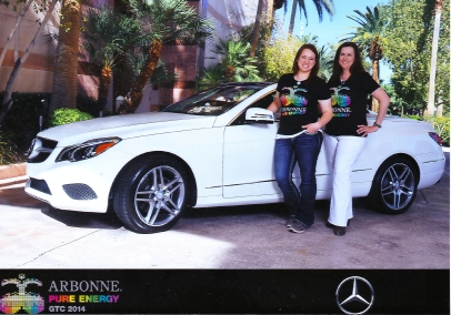 Tami, right, and her daughter Jessyca at an Arbonne Convention in Las Vegas. Photo Courtesy of Tami Hovendick.