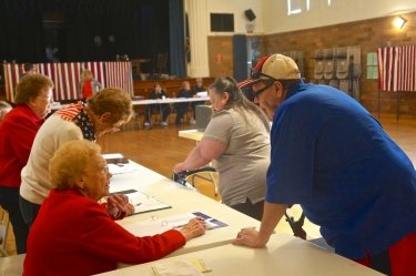 It is election day! With the help from such dedicated ladies such as Sandy Husar, Julie Easton, Frelon Danielson, Betty Hanna and Dorothy Wallace, voters cast their ballots. Some of these ladies, such as Betty and Frelon, have worked on election day for many years. Give all of those assisting at the polls a big thank you for their service as they put in a very long day, dedicating their time to election day! All photos credit of Denise Gilliland, Editor and Chief, Kat Country Hub.