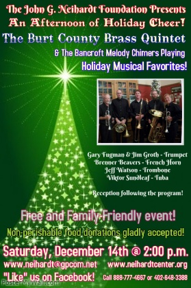 Burt County Brass Quintet SAM Program Poster