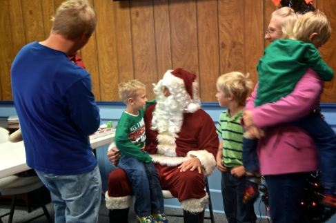 The Gahan grandkids are busy telling Santa what they want for Christmas. Photo Credit/Denise Gilliland, Editor and Chief, Kat Country Hub.