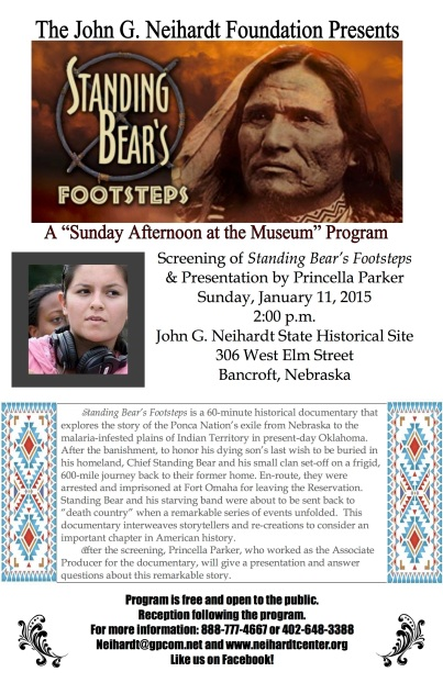 January 2015 SAM Standing Bear's Footsteps Poster