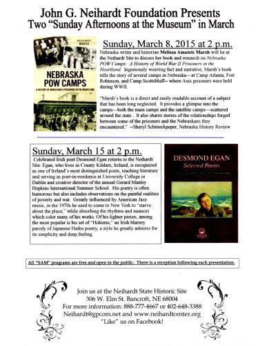 March SAM Program Poster