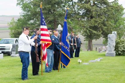 Memorial Day Services were held in Craig, giving tribute to those who have given their lives protecting the freedoms of this country. A plane also flew over in honor of the day. All photos credit of Loren Swanson of Oakland.
