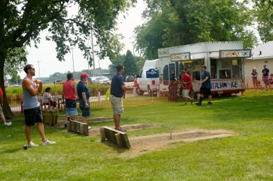 The annual horseshoe tournament during the Lyons July 4th Festival brings many competitors and onlookers. All photos credit of Denise Gilliland/Editor and Chief, Kat Country Hub.