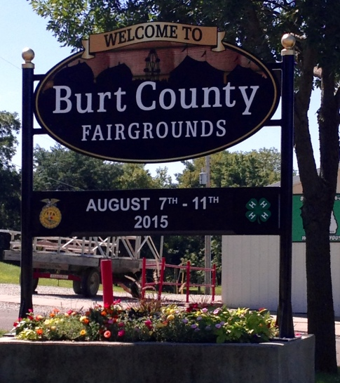 Here is the new Burt County Fair Sign, fully installed thanks to CBS Signs Inc. Photo Credit/Denise Gilliland, Editor and Chief, Kat Country Hub.