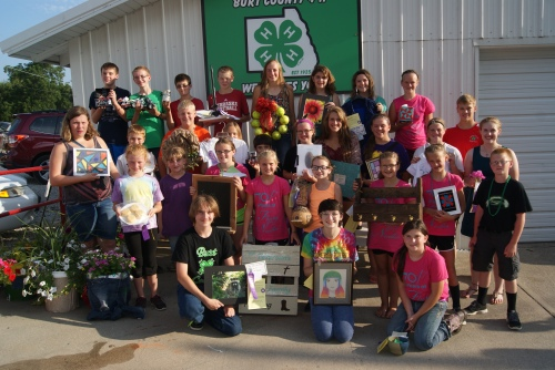 This group of 4-H members won many awards at the Burt County Fair, and some will move onto the state fair. Photo Credit/Mary Loftis.