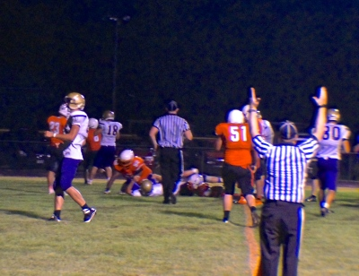 Battle Creek's offense scores one of many TD's agains O-C Friday night. Photo Credit/Denise Gilliland, Editor and Chief, Kat Country Hub.