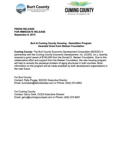 Press Release-Nielsen Grant
