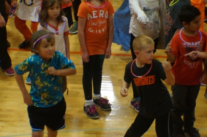 The young kids had a great time dancing at the OC Homecoming Pep Rally! Photo Credit/Denise Gilliland, Editor and Chief, Kat Country Hub.