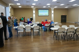 The open house for the remodeled community center in Lyons. Photo Credit/Denise Gilliland, Editor and Chief, Kat Country Hub.