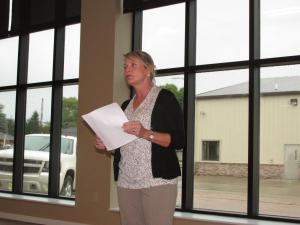 Patty Plugge addresses those attending the leadership summit recently. Photo courtesy of Patty Plugge.