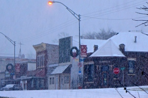 A winter storm came through the area, effecting a large area of Nebraska, bringing with it large amounts of snow. This is the scene in Oakland Nebraska. All photos credit of Denise Gilliland, Editor and Chief, Kat Country Hub.