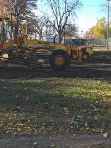 Oakland's city crew has been busy moving dirt in the park in preparation for the new bathroom building that will be built in the near future. The Friends of Oakland Foundation contributed $20,000 to the construction of the building and there is also $30,000 in the city's budget going towards the building. This will be a great addition to the park, providing a large bathroom/shower facility for the public, and especially for those camping in the park. All photos credit of Denise Gilliland, Editor and Chief, Kat Country Hub.