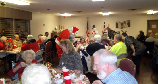 Christmas party at Oakland Heights. Photo courtesy of Oakland Heights.