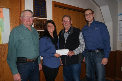 Burt County Ag Society members receiving check from Farm Credit Services. Photo Courtesy of Mary Loftis.