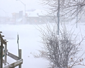 The weather is treacherous all over the Midwest. Oakland NE is in the heart of blizzard conditions. There are several inches of snow on the ground with more to come. Photo Credit/Denise Gilliland, Editor and Chief, Kat Country Hub.