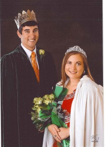 Nick Bohannon and Jamie Poppe, Fremont 4-H Fair King and Queen. Photo Credit/Mary Loftis.
