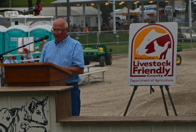 Dave Schold of the Burt County Board of Supervisors spoke on behalf of Burt County being Livestock Friendly.