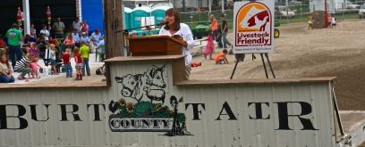 Nebraska Senator Lydia Brasch attended the event honoring Burt County's Livestock Friendly appointment. Photo Credit/Denise Gilliland, Editor and Chief, Kat Country Hub.