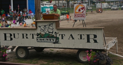 David Pearson of the Burt County Fair Board shared in the enthusiasm of Burt County joining other counties in Nebraska as Livestock Friendly. Photo Credit/Denise Gilliland, Editor and Chief, Kat Country Hub.