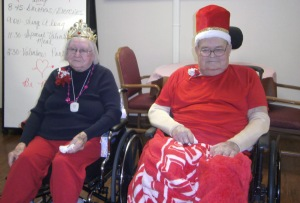 Betty Homes and Delwin Benne were crowned Queen and King at the Oakland Heights Valentines Day party. Photo courtesy of Oakland Heights.